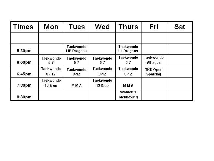 schedule-spring-hill-2010
