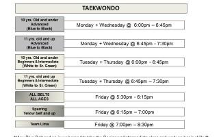 New schedule 2015